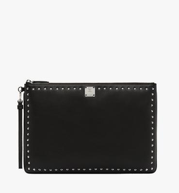 Berlin Wristlet Zip Pouch in Studded Outline