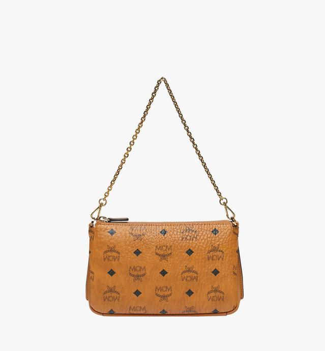 Millie Crossbody-Tasche mit Reissverschluss oben in Visetos