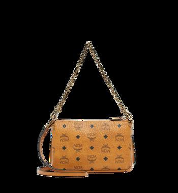 MCM Millie Crossbody-Tasche mit Reissverschluss oben in Visetos Alternate View 4