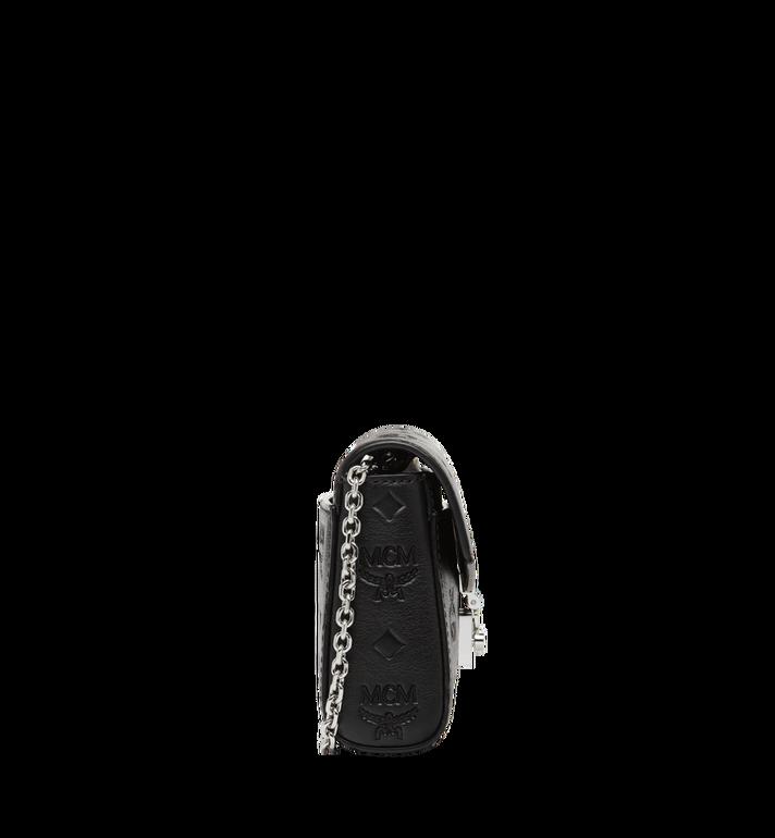 MCM Millie Flap Crossbody in Monogram Leather Black MYZ8AME11BK001 Alternate View 3
