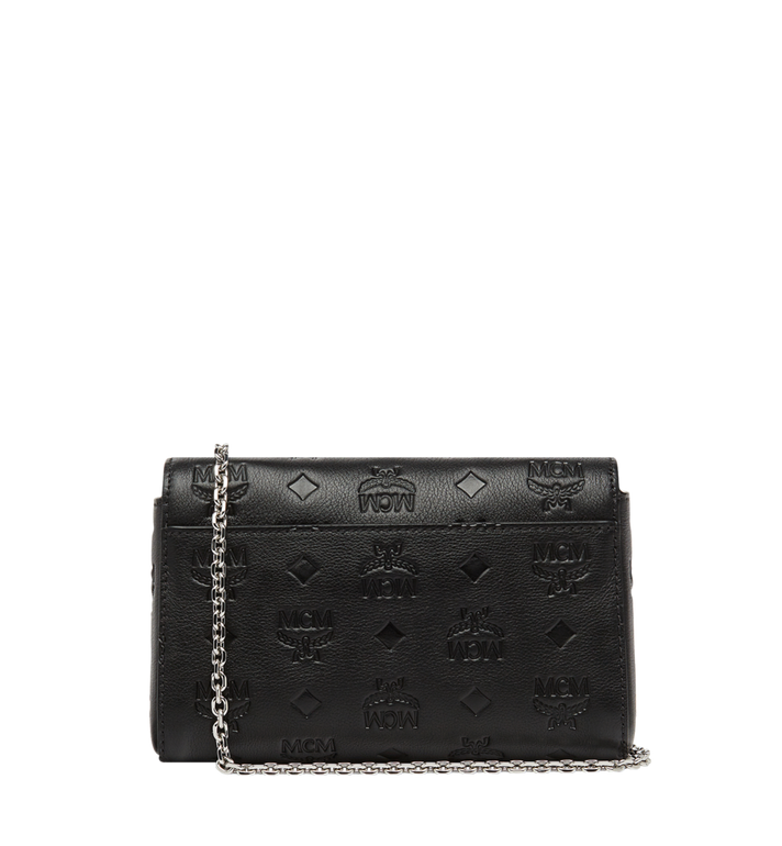 MCM Millie Flap Crossbody in Monogram Leather Black MYZ8AME11BK001 Alternate View 4