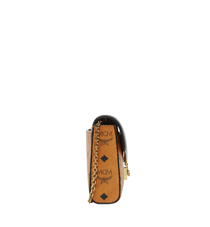 MCM Millie Flap Crossbody in Visetos Leather Block  MYZ8AME22BK001 Alternate View 3