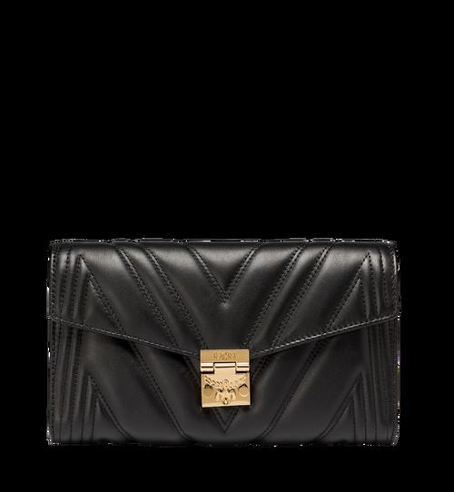 Millie Crossbody-Tasche mit Überschlag aus gestepptem Leder