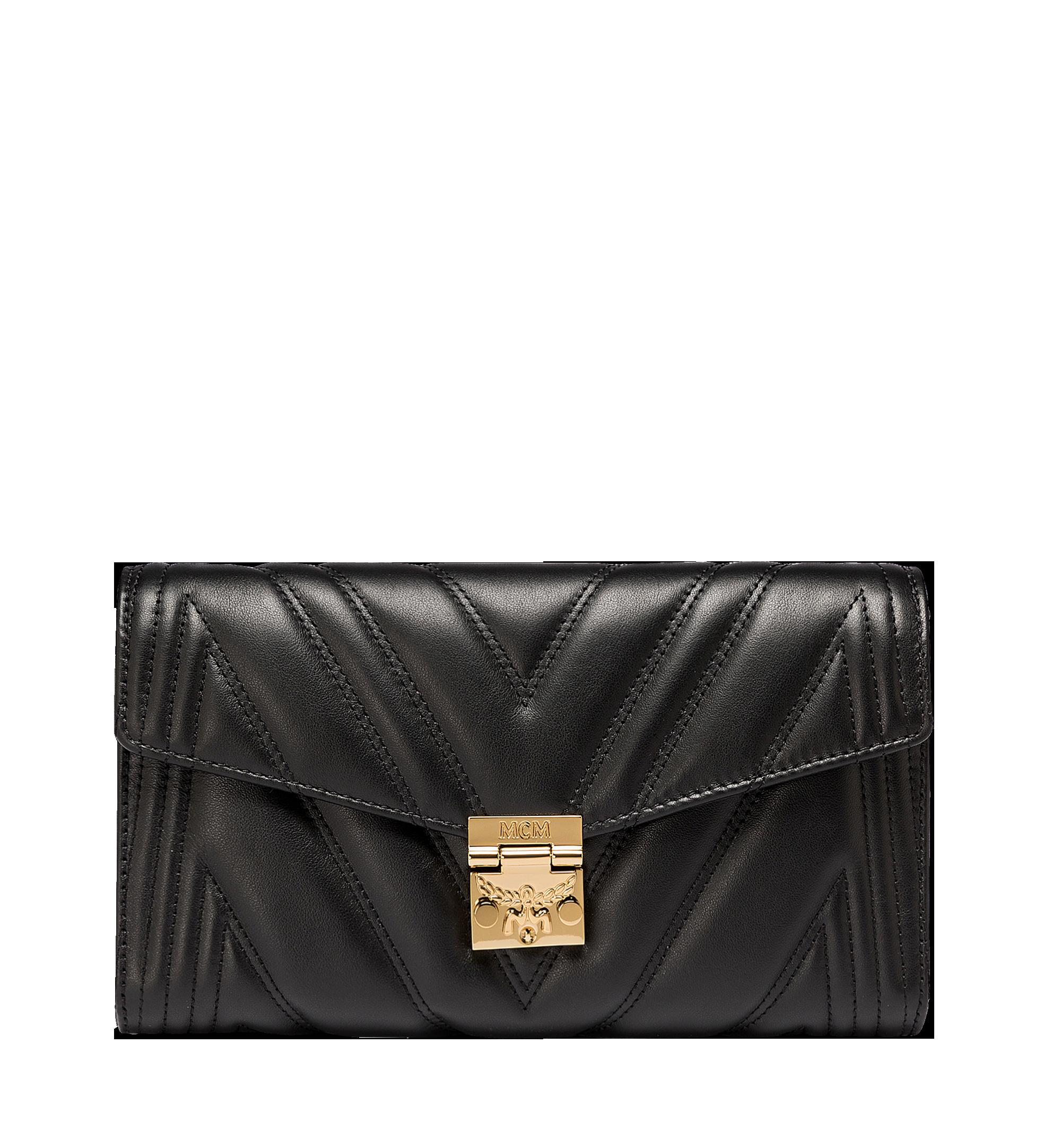 MCM Millie Crossbody-Tasche mit Überschlag aus gestepptem Leder  MYZ8AME42BK001 Alternate View 1