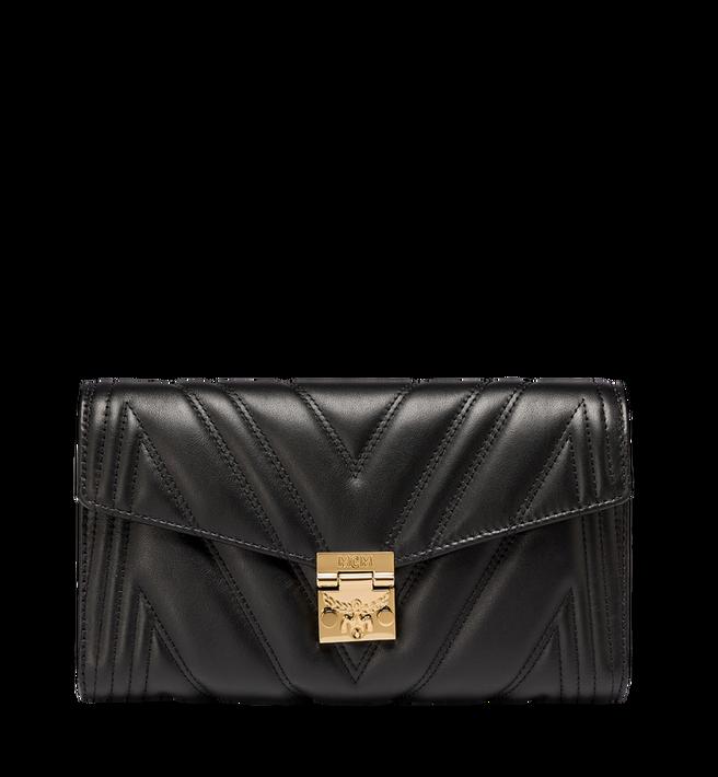 MCM Millie Crossbody-Tasche mit Überschlag aus gestepptem Leder Alternate View