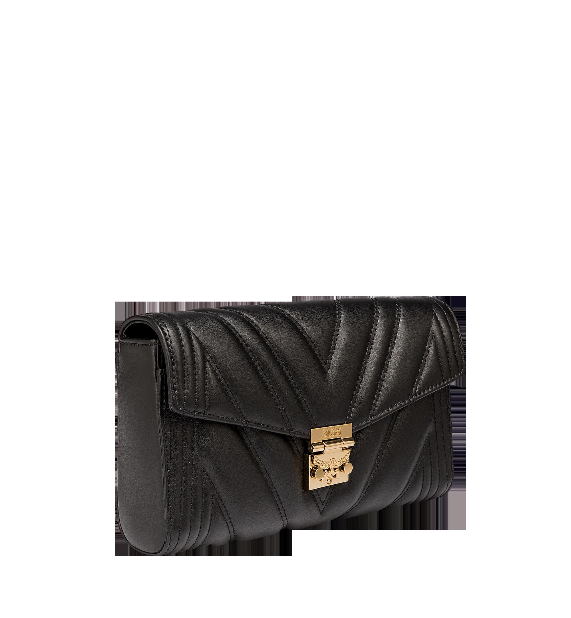 MCM Millie Crossbody-Tasche mit Überschlag aus gestepptem Leder  MYZ8AME42BK001 Alternate View 2