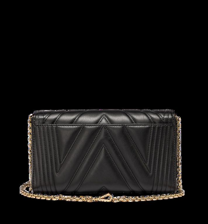MCM Millie Crossbody-Tasche mit Überschlag aus gestepptem Leder  MYZ8AME42BK001 Alternate View 4