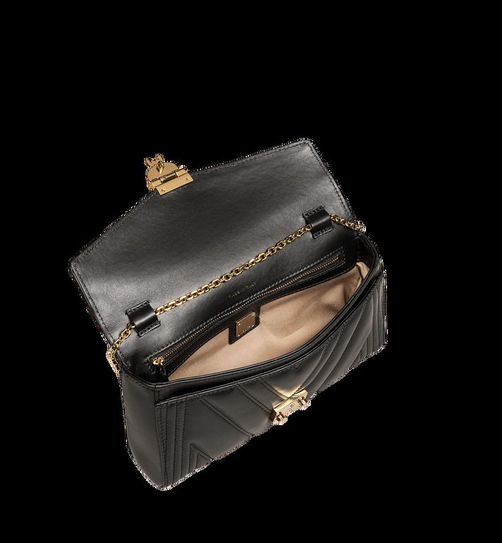 MCM Millie Crossbody-Tasche mit Überschlag aus gestepptem Leder  MYZ8AME42BK001 Alternate View 5