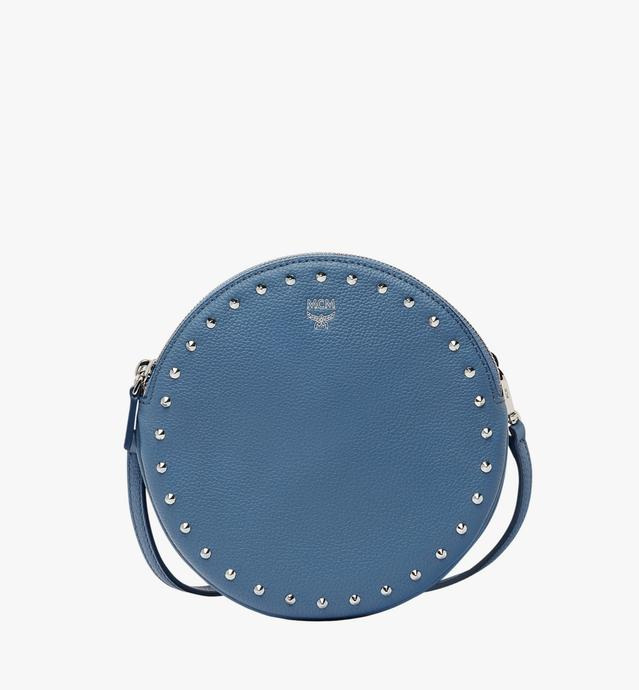 Double Tambourine Crossbody in Studded Outline