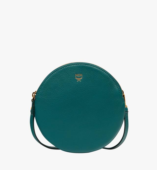 Double Tambourine Crossbody in Grained Leather