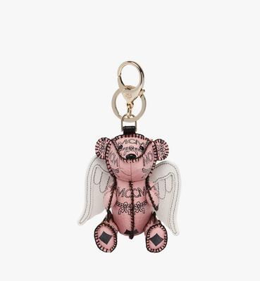 MCM Zoo Cupid Bear Charm in Visetos