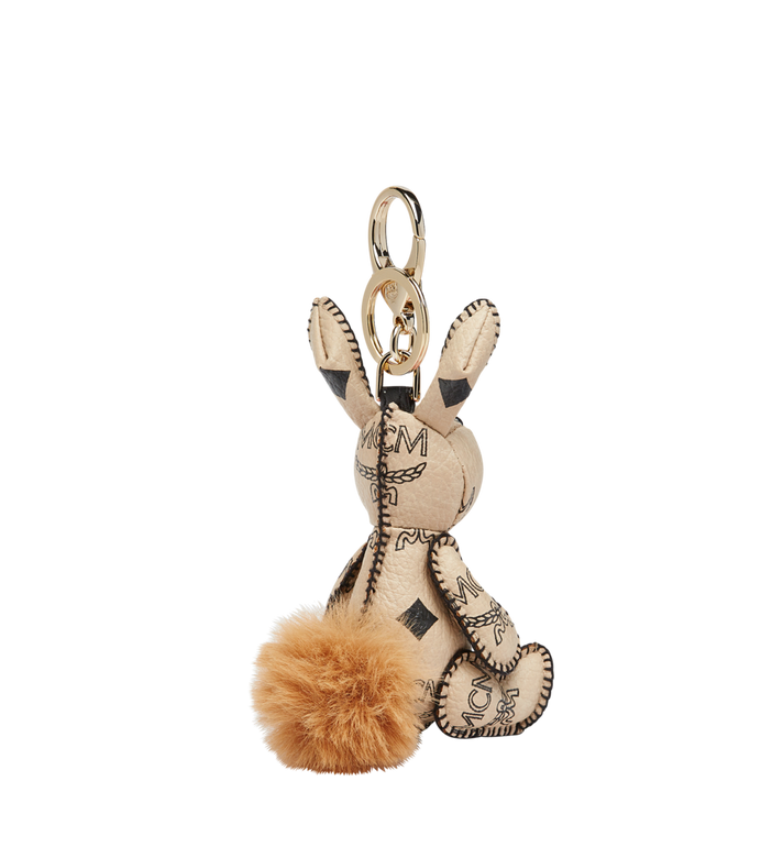 MCM MCM Zoo Rabbit Charm in Visetos Beige MYZ8AVI38IG001 Alternate View 2