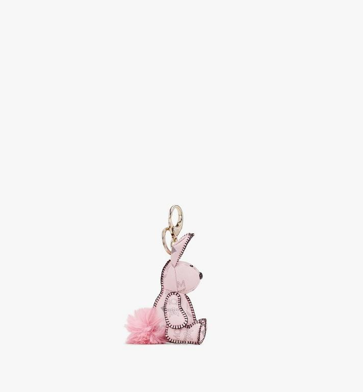 MCM MCM Zoo Rabbit Charm in Visetos Pink MYZ8AVI38QH001 Alternate View 2