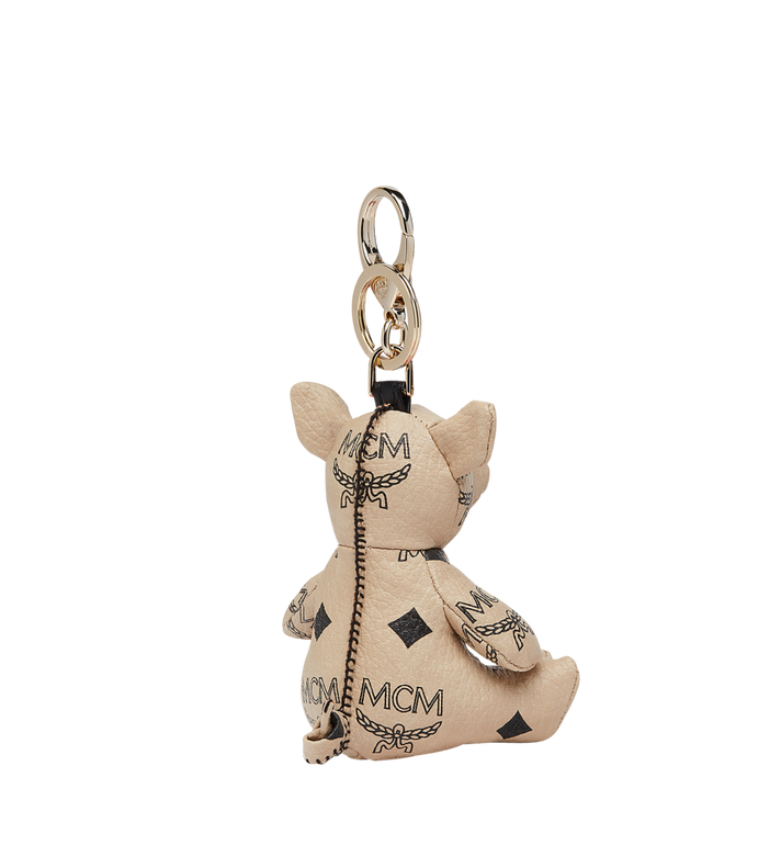 MCM MCM Zoo Pig Charm in Visetos Beige MYZ8AXL07IG001 Alternate View 2