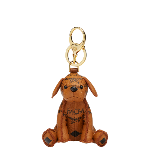 MCM Zoo Dog Charm in Visetos