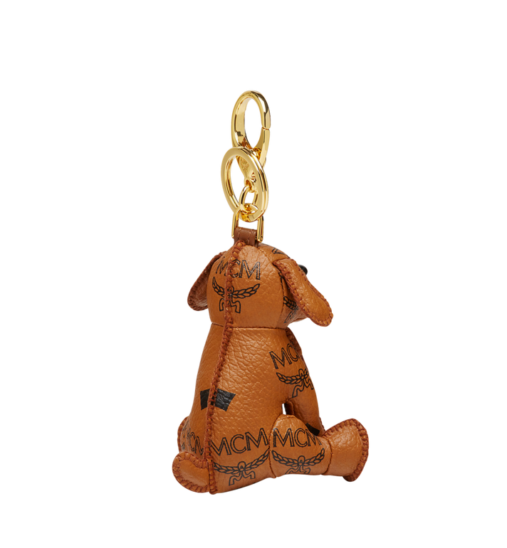 MCM MCM Zoo Dog Charm in Visetos Cognac MYZ8AXL08CO001 Alternate View 2