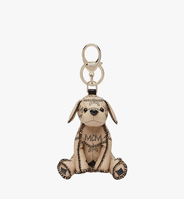 MCM Zoo Dog Charm in Visetos