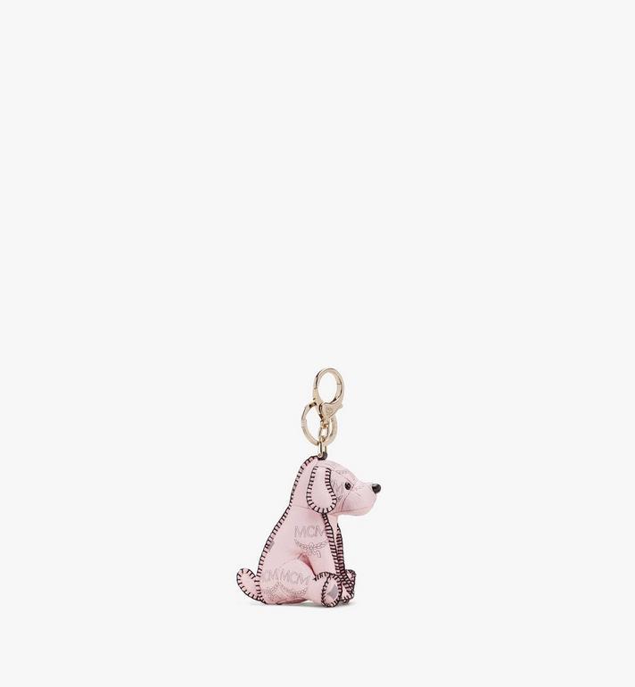 MCM MCM Zoo Dog Charm in Visetos Pink MYZ8AXL08QH001 Alternate View 2