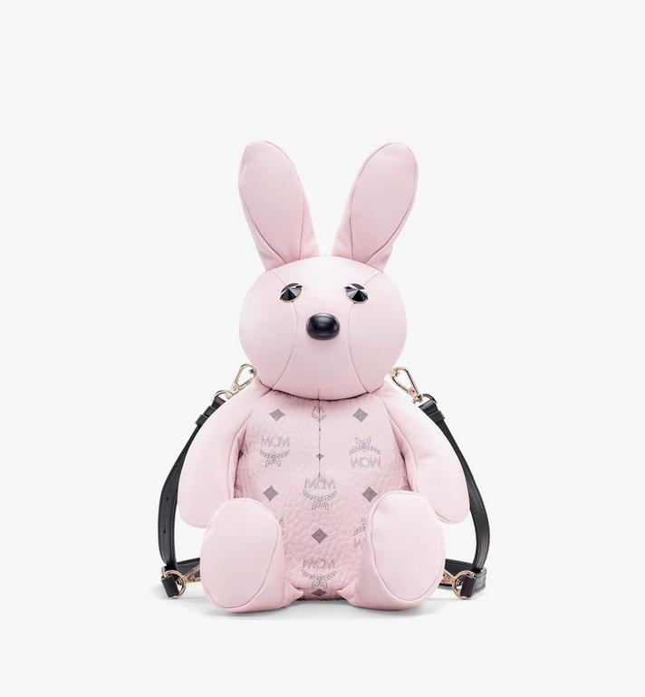 MCM Visetos 皮革 MCM Zoo Rabbit 背包 Pink MYZ8AXL17QH001 Alternate View 1