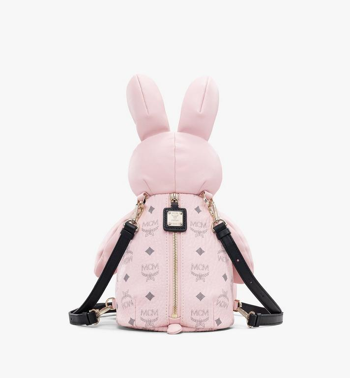 MCM Visetos 皮革 MCM Zoo Rabbit 背包 Pink MYZ8AXL17QH001 Alternate View 3