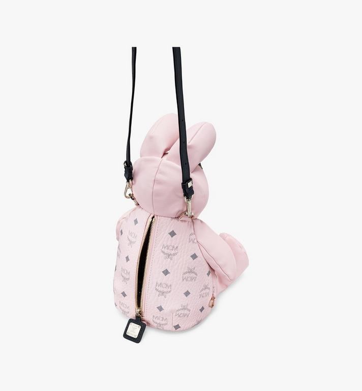 MCM Visetos 皮革 MCM Zoo Rabbit 背包 Pink MYZ8AXL17QH001 Alternate View 4