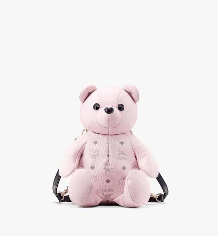 MCM Visetos 皮革 CM Zoo Bear 後背包 Pink MYZ8AXL27QH001 Alternate View 1