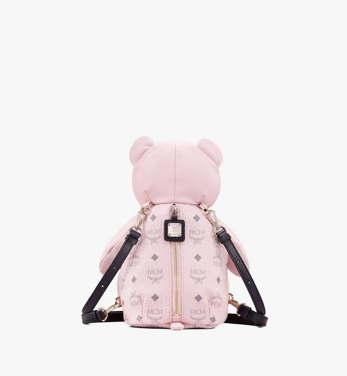 MCM Visetos 皮革 CM Zoo Bear 後背包 Pink MYZ8AXL27QH001 Alternate View 3