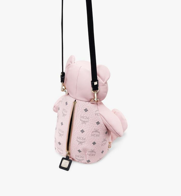 MCM Visetos 皮革 CM Zoo Bear 後背包 Pink MYZ8AXL27QH001 Alternate View 4