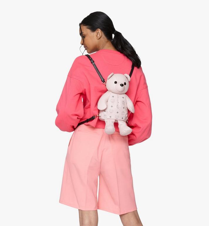 MCM MCM Zoo Bear Backpack in Visetos Pink MYZ8AXL27QH001 Alternate View 5