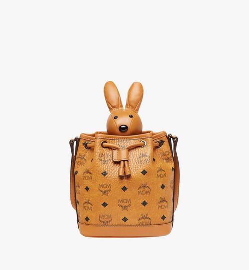 กระเป๋ารูดทรงขนมจีบพร้อมตุ๊กตากระต่าย MCM Zoo Rabbit ลาย Visetos