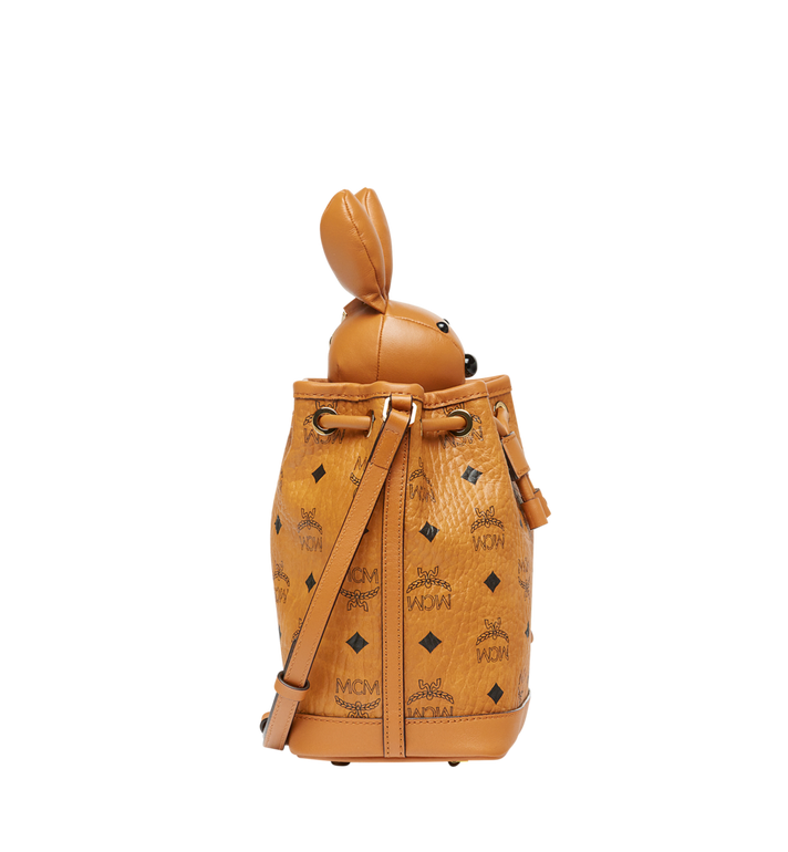 MCM MCM Zoo Rabbit Drawstring in Visetos Cognac MYZ8AXL45CO001 Alternate View 3