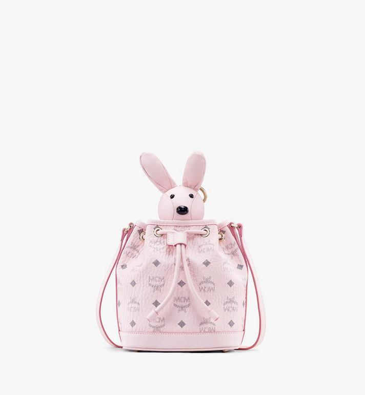MCM MCM Zoo Rabbit Drawstring Bag in Visetos Alternate View