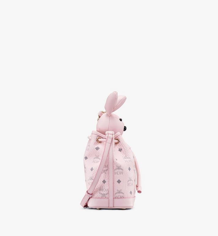 MCM MCM Zoo Rabbit Drawstring Bag in Visetos Pink MYZ8AXL45QH001 Alternate View 2