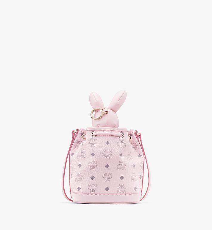 MCM MCM Zoo Rabbit Drawstring Bag in Visetos Pink MYZ8AXL45QH001 Alternate View 3