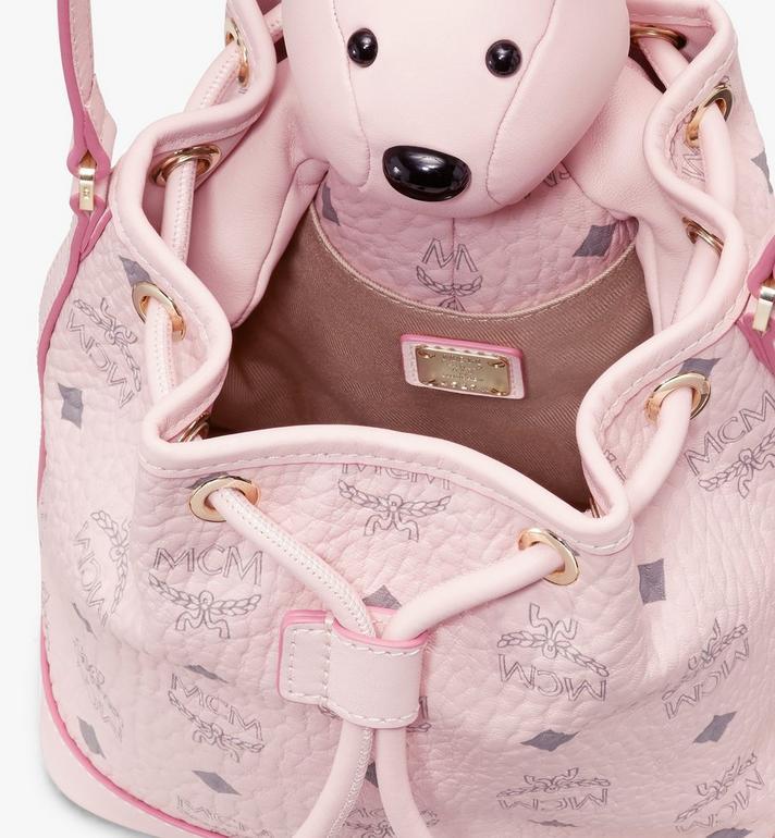 MCM MCM Zoo Rabbit Drawstring Bag in Visetos Pink MYZ8AXL45QH001 Alternate View 4