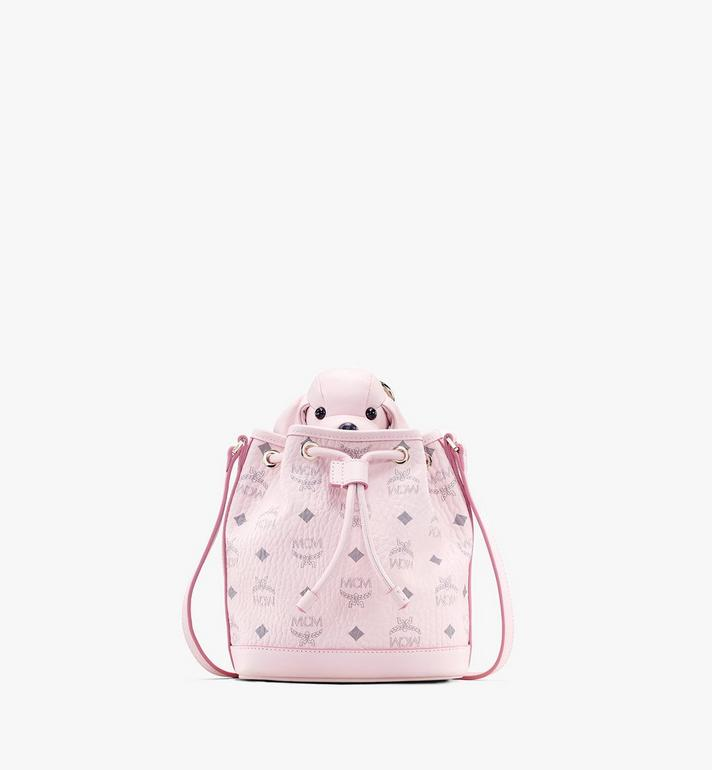 MCM MCM Zoo Dog Drawstring Bag in Visetos Pink MYZ8AXL46QH001 Alternate View 1