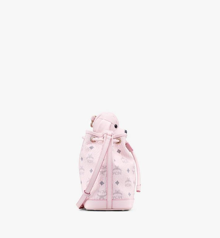 MCM MCM Zoo Dog Drawstring Bag in Visetos Pink MYZ8AXL46QH001 Alternate View 2