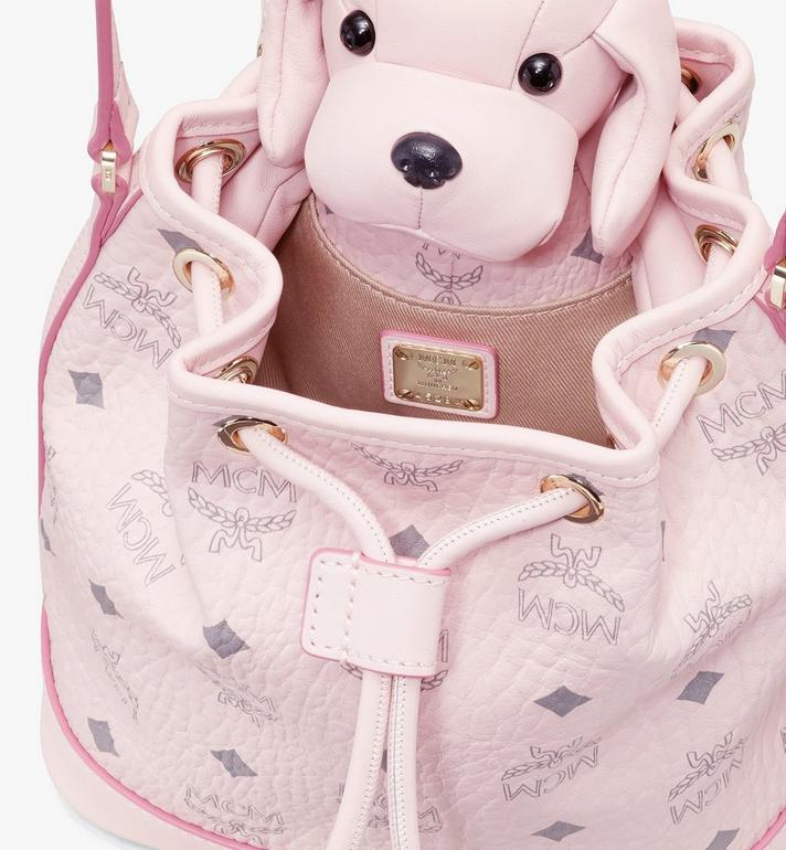 MCM MCM Zoo Dog Drawstring Bag in Visetos Pink MYZ8AXL46QH001 Alternate View 4