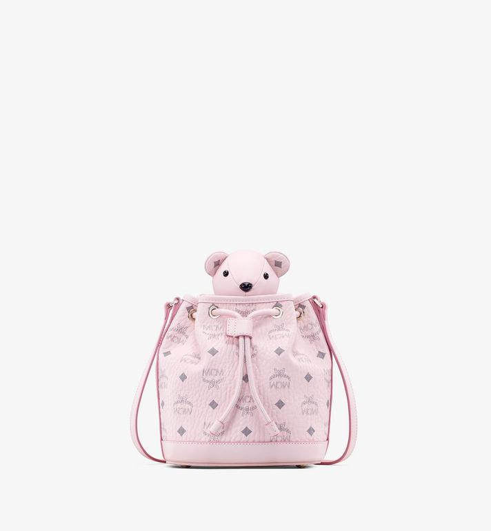 MCM MCM Zoo Bear Drawstring Bag in Visetos Pink MYZ8AXL47QH001 Alternate View 1