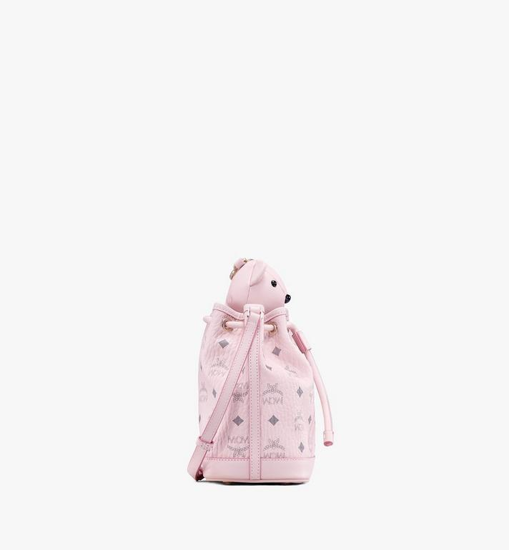 MCM MCM Zoo Bear Drawstring Bag in Visetos Pink MYZ8AXL47QH001 Alternate View 2