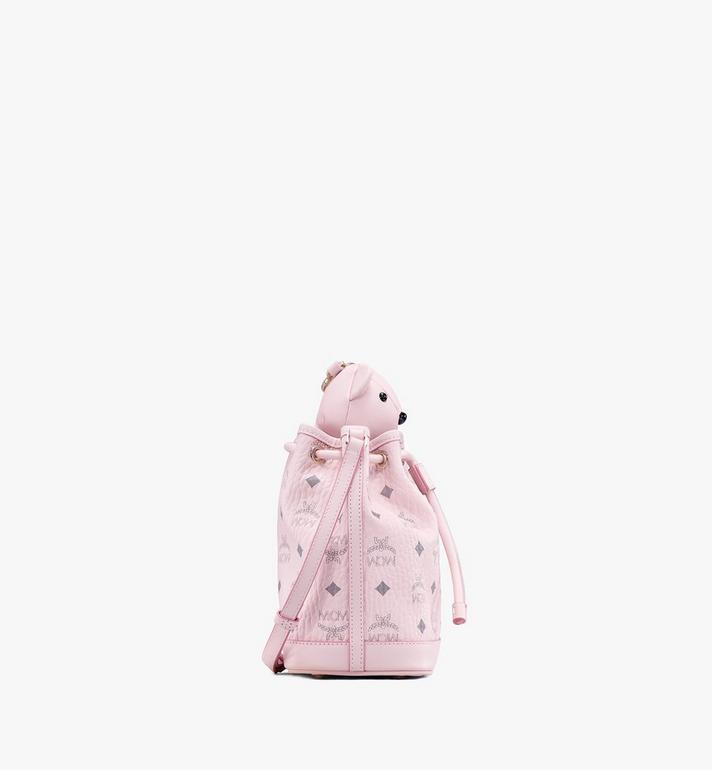 MCM MCM Zoo Bear Drawstring Bag in Visetos Pink MYZ8AXL47QH001 Alternate View 2