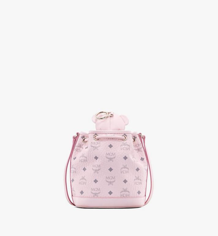 MCM MCM Zoo Bear Drawstring Bag in Visetos Pink MYZ8AXL47QH001 Alternate View 3