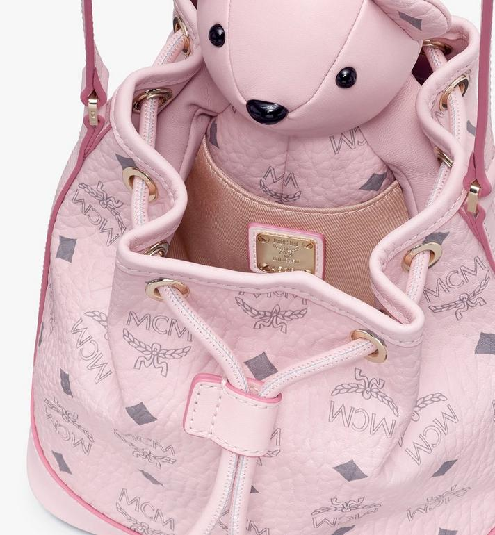 MCM MCM Zoo Bear Drawstring Bag in Visetos Pink MYZ8AXL47QH001 Alternate View 4