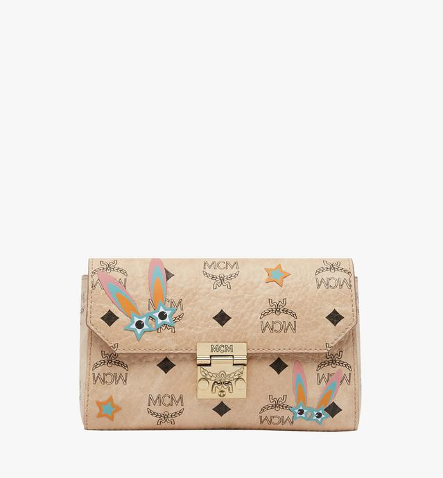 Millie Star Eyed Bunny Flap Crossbody-Tasche in Visetos
