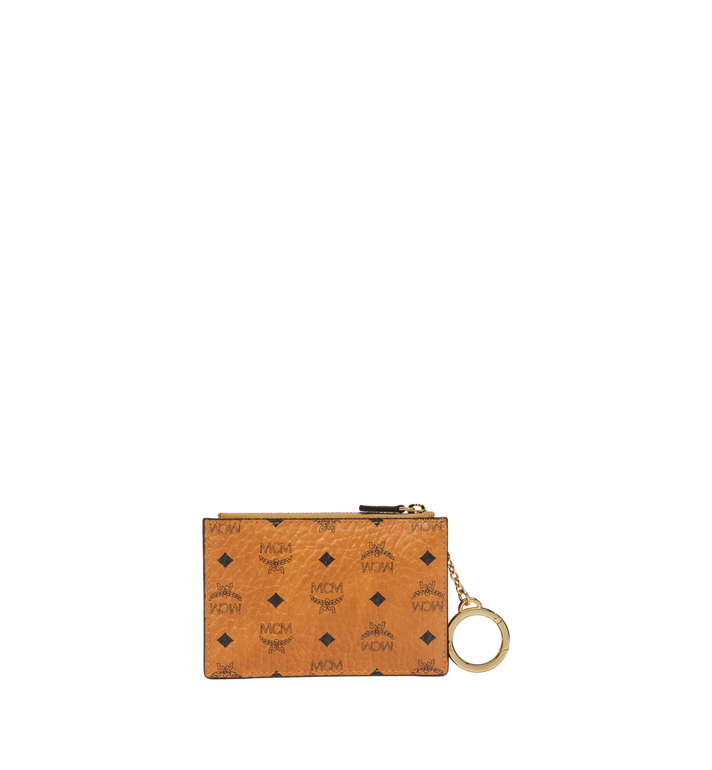 MCM Key Pouch in Visetos Original Cognac MYZ8SVI06CO001 Alternate View 3