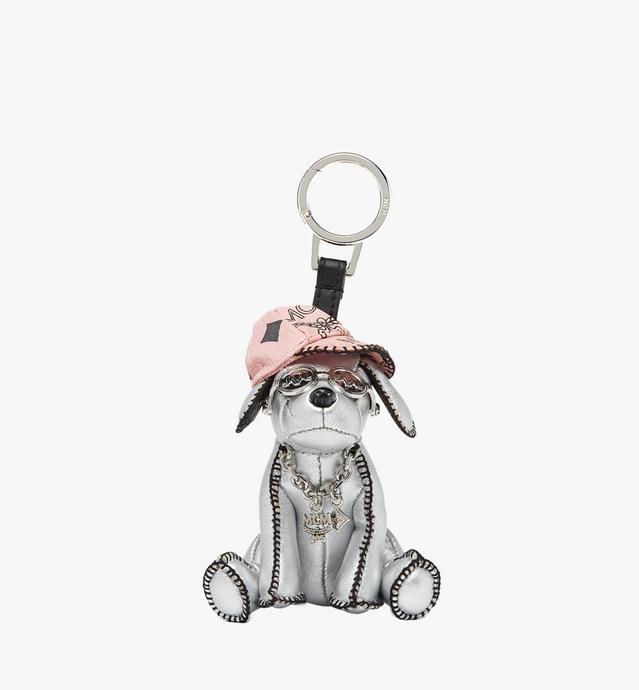 Silver Dog Animal Charm