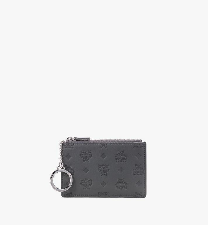 MCM Mini Key Pouch in Monogram Leather Alternate View