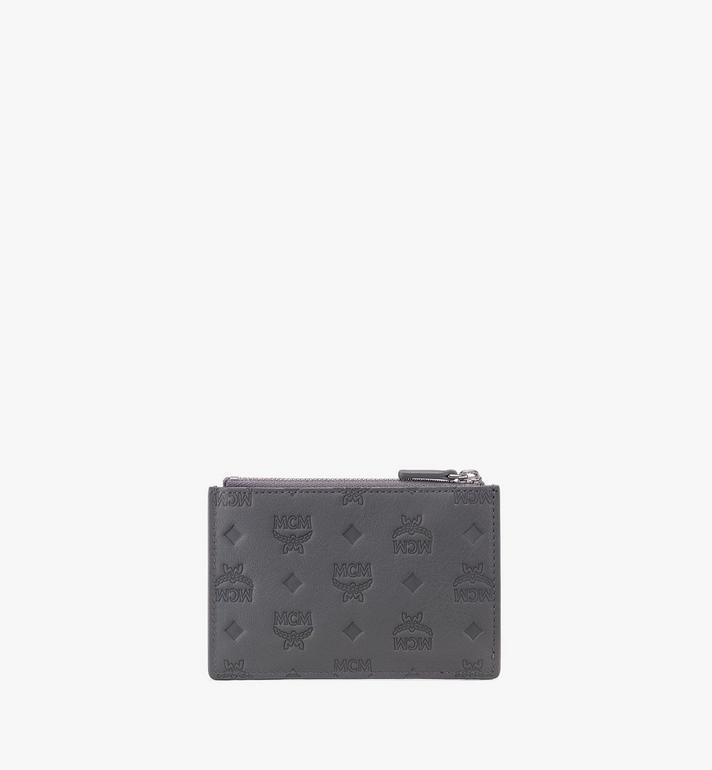 MCM Mini Key Pouch in Monogram Leather Grey MYZ9AKM44EC001 Alternate View 2