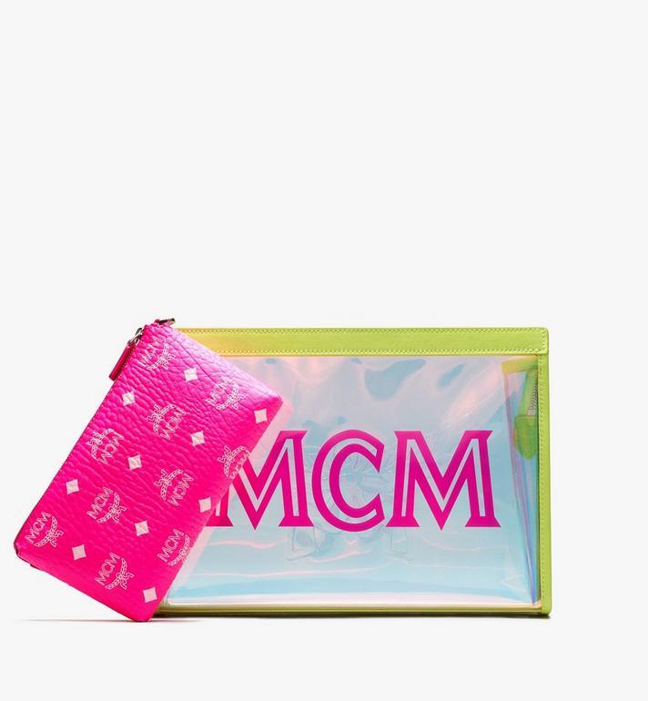 MCM Flo Reissverschlussbeutel in Hologramm-Optik  MYZ9ALC04YN001 Alternate View 5