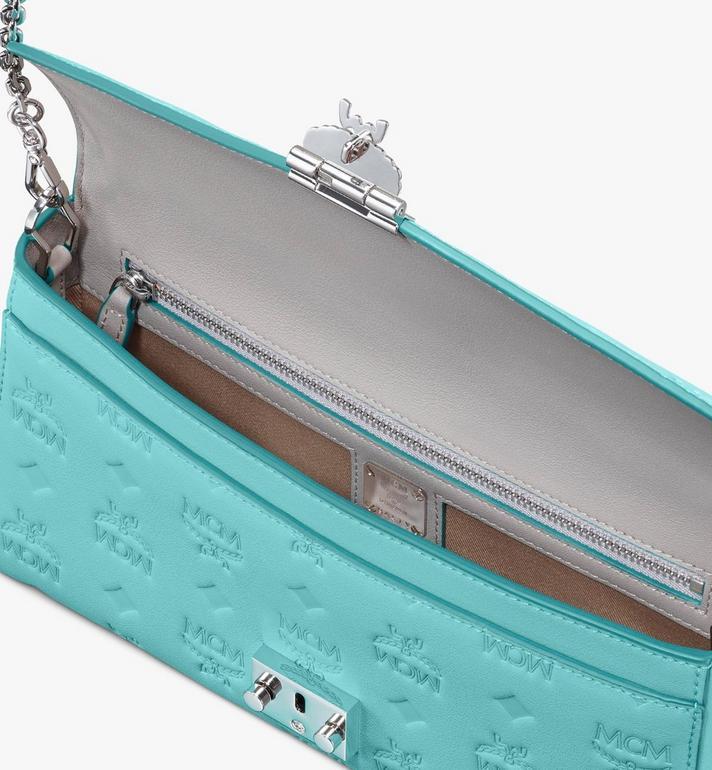 MCM Millie Crossbody-Tasche aus Leder mit Monogramm Blue MYZ9AME12H3001 Alternate View 3